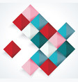 abstract geometric shape from color rhombus vector image