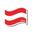 austria patriotic flag isolated icon vector image