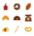 baking icons set flat style vector image