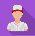 baseball player baseball single icon in flat vector image