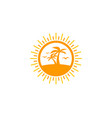 beach sun logo icon design vector image