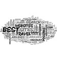 best discount airfare text word cloud concept vector image vector image