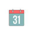 bind calendar outline icon vector image