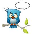 Blue Bird Vicious vector image