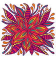 bright colorful doodle style flower with many vector image vector image