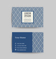 business card art deco design template 03 vector image vector image