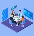 business meeting in international company vector image vector image