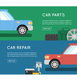 Car parts set Car service icon set Car parts shop vector image vector image