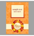 Card in yellow colors with autumn leaves vector image vector image