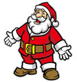 Cartoon of Santa claus vector image
