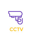 cctv icon linear style vector image