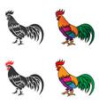 chicken 02 vector image