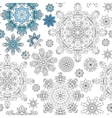 Christmas pattern from snowflakes for a card vector image vector image