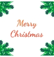 Christmas tree brunches greeting card vector image vector image