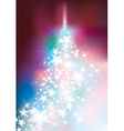 christmas tree colorful vector image