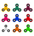 collection of fashionable modern spinners toy vector image
