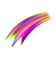 colorful brushstroke on white background vector image vector image