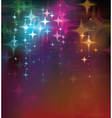 colorful stars background vector image vector image