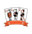 diamonds suit emblem french playing cards related vector image vector image