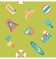 Endless summer beach background vector image