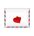 Envelope With A Label vector image vector image