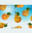 few of the pear floating in the sky vector image