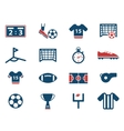 Football simply icons vector image vector image
