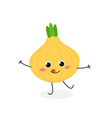 funny cartoon onion vector image