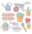 gardening elements stickers vector image