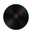 gramophone vynil record in retro style with vector image vector image