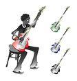 Groovy bassist vector image