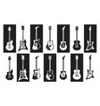 guitars black and white electric and acoustic vector image
