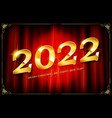 happy new year 2022 vector image vector image