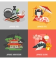 Japanese Culture Flat Icon Set vector image vector image