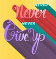 Lettering motivation poster vector image
