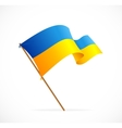 liiustration Ukraine Flag vector image