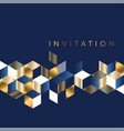 luxury marine geometric pattern for invitation vector image