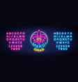 mardi grav is a neon sign bright glowing banner vector image vector image