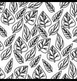 monochrome pattern of ovoid leaves vector image vector image