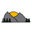 mountain nature landscape vector image vector image