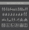 people pictograph signs and symbols for public vector image