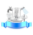 Plumbing composition isolated on white background vector image vector image