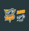 rats mascot logo design vector image