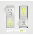 realistic switch ON and OFF positions vector image