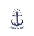 refuse to sink print with nautical anchor vector image