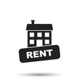 rent house icon in flat style on white background vector image