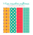 round shape seamless patterns vector image