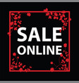 sale online sign vector image vector image