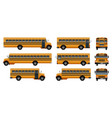 school bus back kids icons set realistic style vector image vector image