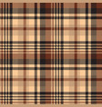seamless pattern tartan chocolate color background vector image vector image